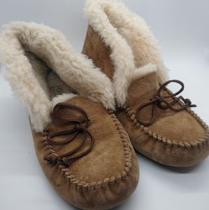 UGG Australia Alena Moccasin Suede Slippers